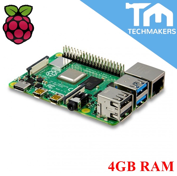 Raspberry Pi 4 Model B - 4GB + 1 year warrantly