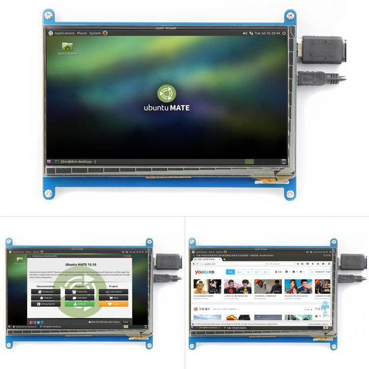 Raspberry Pi 7 inch HDMI Capacitive Touch Screen LCD, Display 800x480