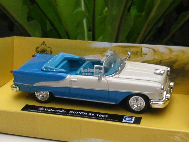 New Ray 1/43 Classic Car 1955 Oldsmobile Super 88 (Blue)