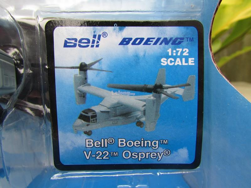 New Ray 1/72 Diecast Helicopter Bell Boeing V-22 Osprey Grey (24cm)