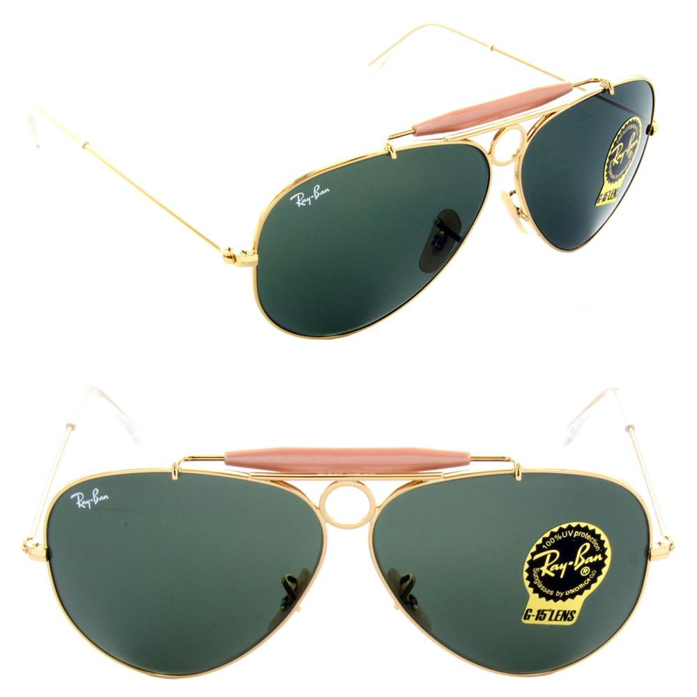 RAY-BAN AVIATOR SHOOTER GOLD GREEN (end 10/13/2016 9:15 AM)