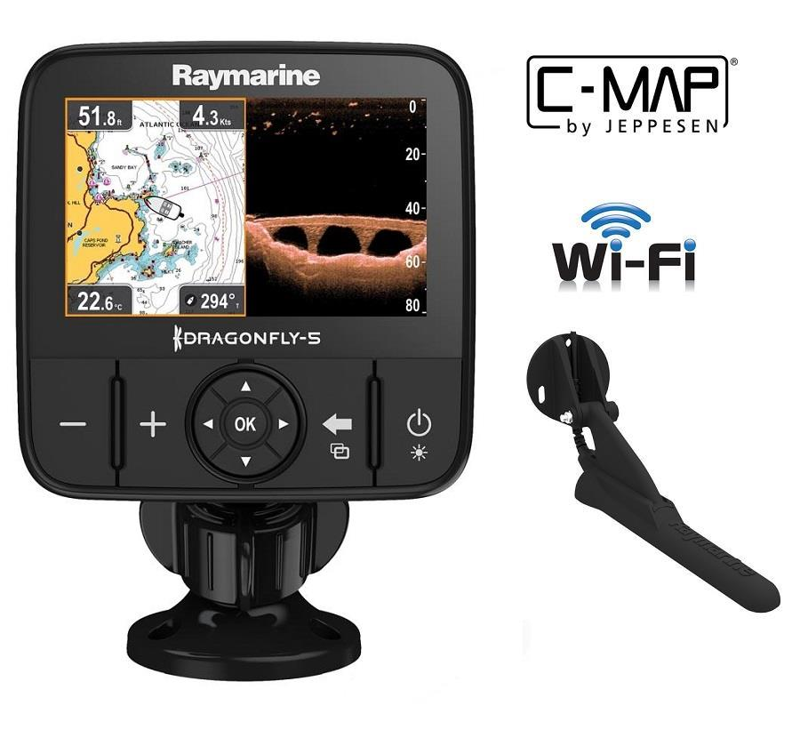 Raymarine Dragonfly 5Pro GPS/Fishfinder with 4D Cmap Chart Card