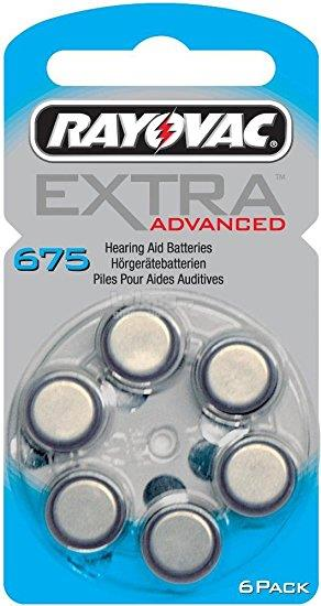 Rayovac Extra Advanced Hearing Aid Battery Size