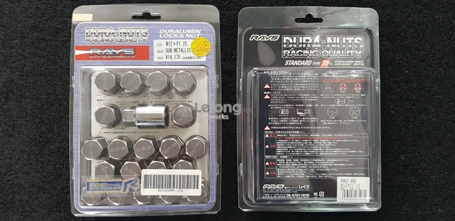 RAYS DURA NUTS 35MM GUN METAL M12X1.25 20PCS 100% ORIGINAL JAPAN