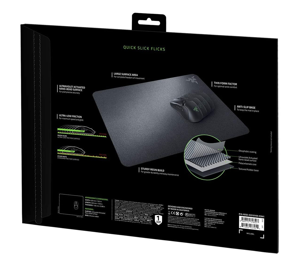RAZER ACARI ULTRA-LOW FRICTION GAMING MOUSE MAT RZ02-03310100-R3M1