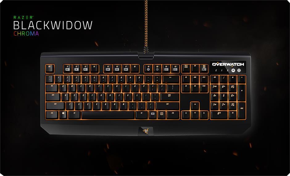 Razer Blackwidow Chroma Overwatch Edition Gaming Keyboard