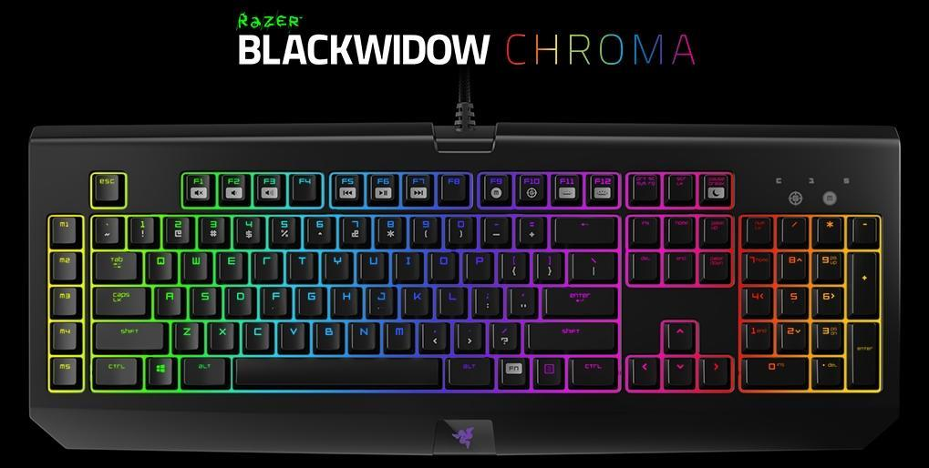 Razer Blackwidow Chroma RGB Gaming Keyboard - RZ03-01220100-RM1