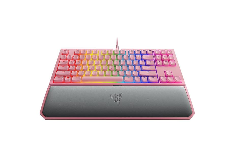 Razer BlackWidow Tournament Edition Chroma V2 Keyboard - Quartz Pink