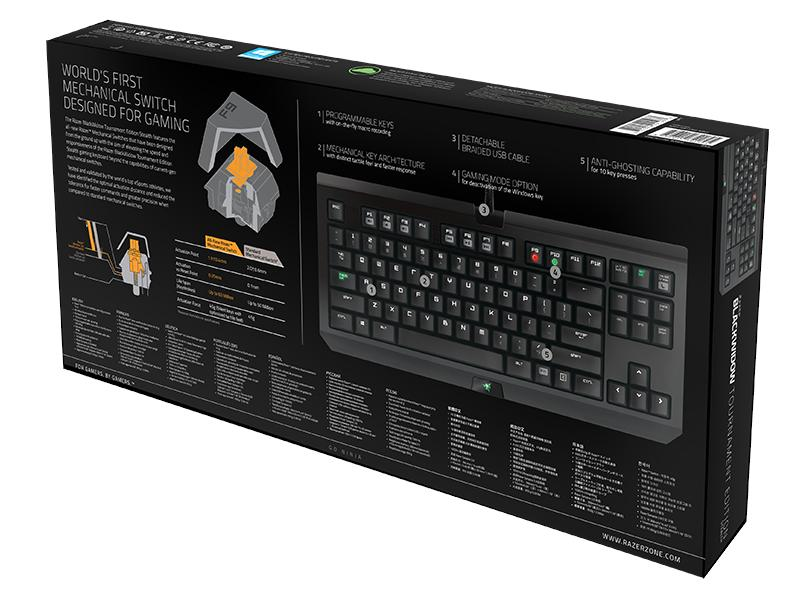 # Razer BlackWidow Tournament Stealth 2014 / Razer Orange Switch #