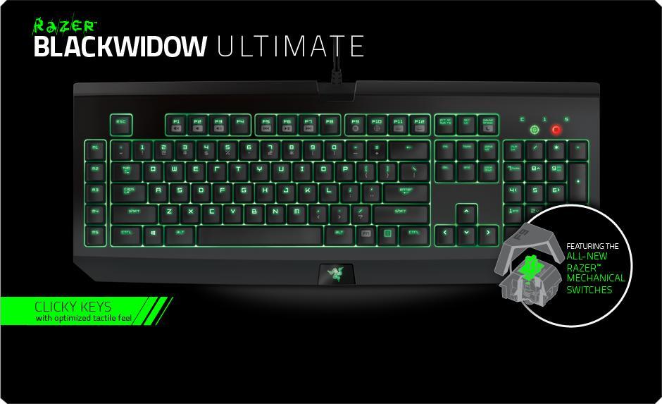 9670be8df91 Razer BlackWidow Ultimate 2016 Keyboard # Green Switch. ‹ ›