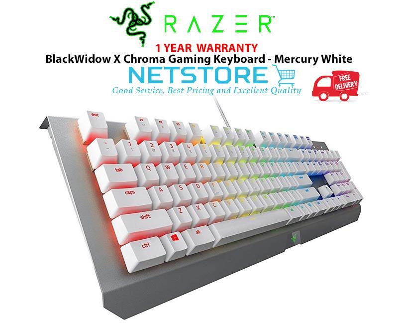 b25d5ff36b5 Razer BlackWidow X Chroma Gaming Keyboard - Mercury White. ‹ ›