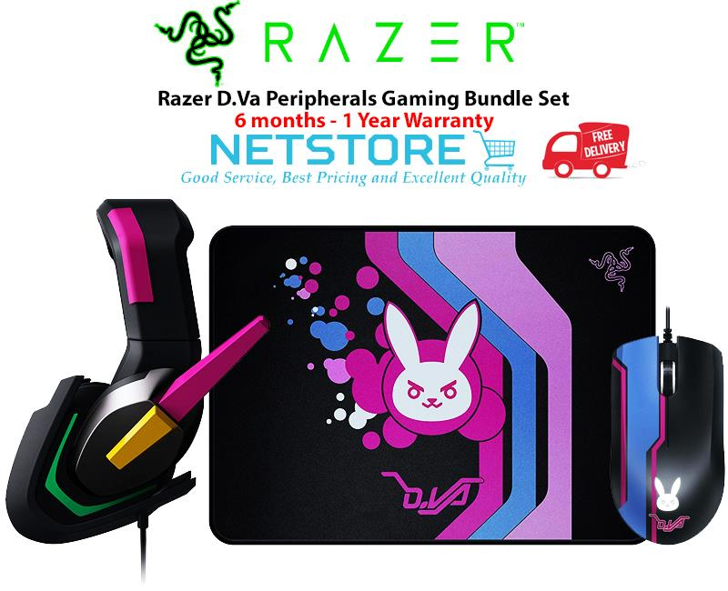 Razer D Va Peripherals Gaming Bundle Set - Headset + Mouse + Mousepad