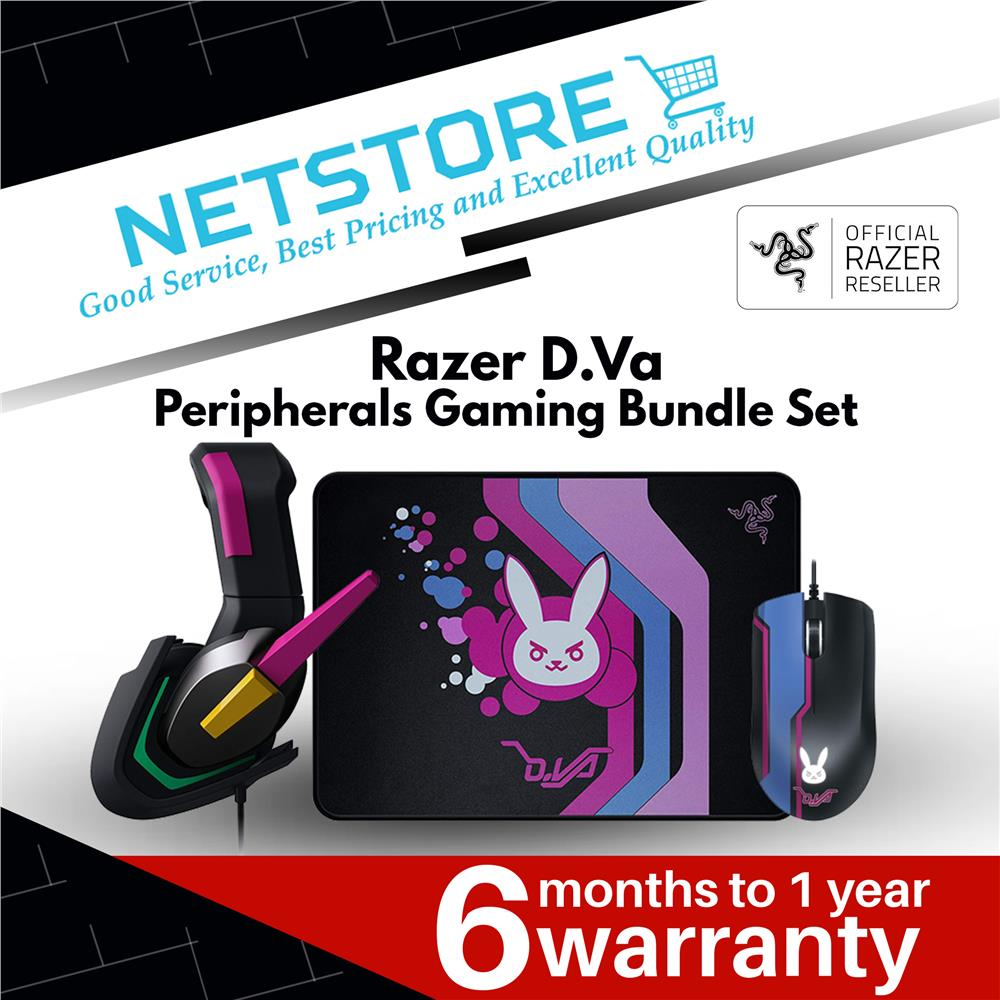 Razer D Va Peripherals Gaming Bundle Set - Headset + Mouse + Mousepad