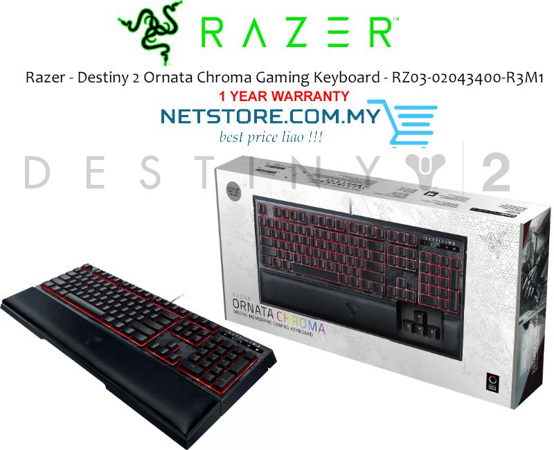 95c7be726e1 Razer Destiny2 Ornata Chroma Gaming Keyboard - RZ03-02043400-R3M1. ‹ ›