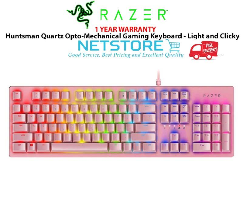 Razer Huntsman Quartz Opto-Mechanical Gaming Keyboard-Light and Clicky