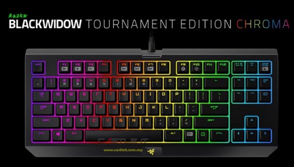 RAZER Keyboard BLACKWIDOW TOURNAMENT CHROMA (RZ03-01430200-R3M1)