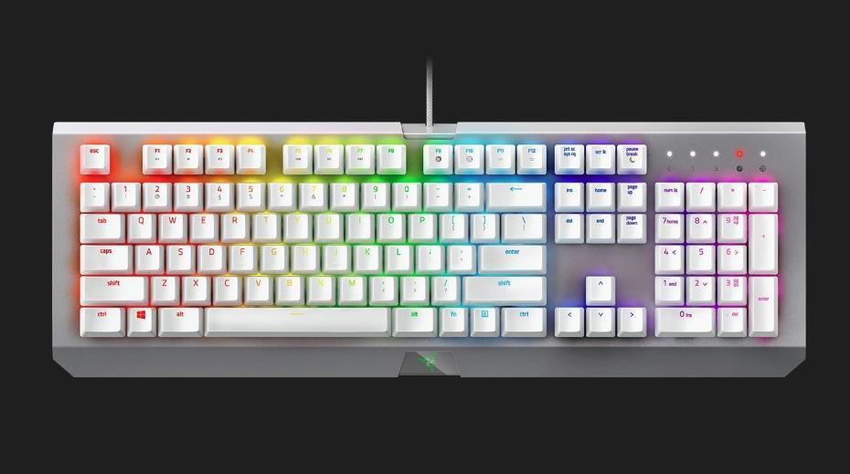 RAZER Keyboard BLACKWIDOW X CHROMA MERCURY (RZ03-01762000-R3M1)