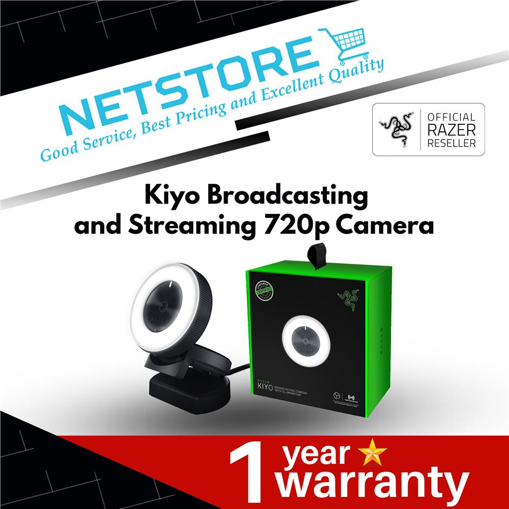 Razer Kiyo Broadcasting and Streaming 720p Camera - RZ19-02320100-R3M1