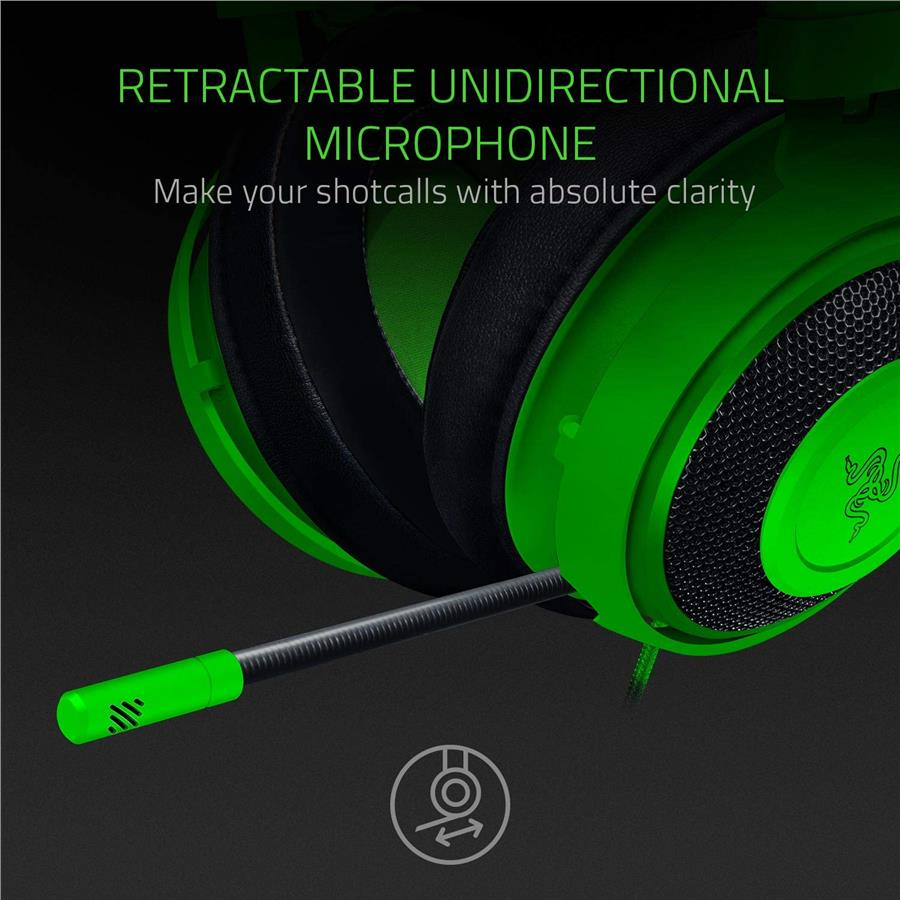 Razer Kraken Gaming Headset 2019 with Noise Cancelling Mic - Green