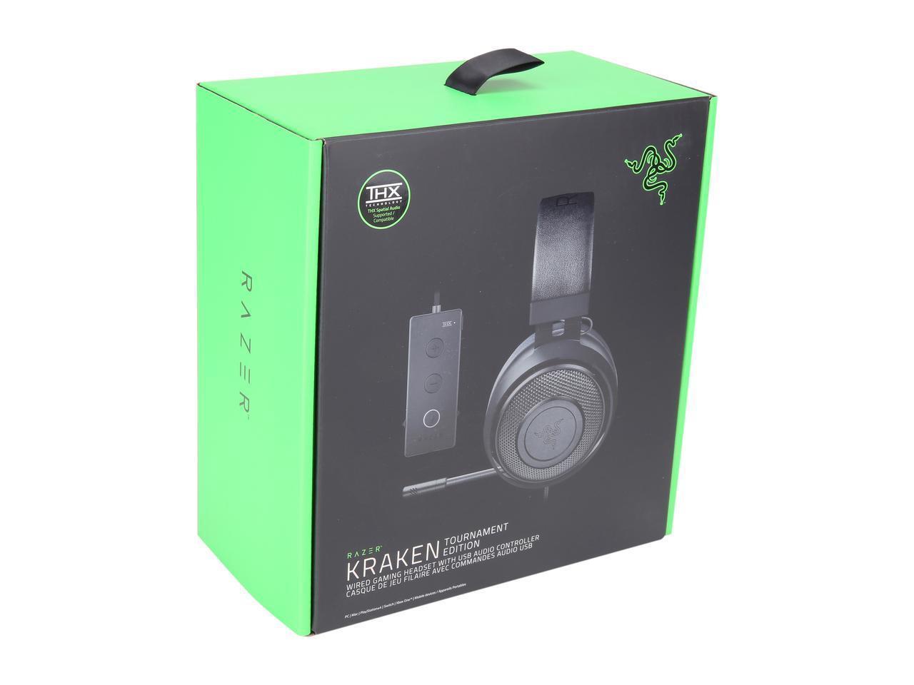 Razer Kraken Tournament Edition Gaming Headset THX Spatial Audio-Black