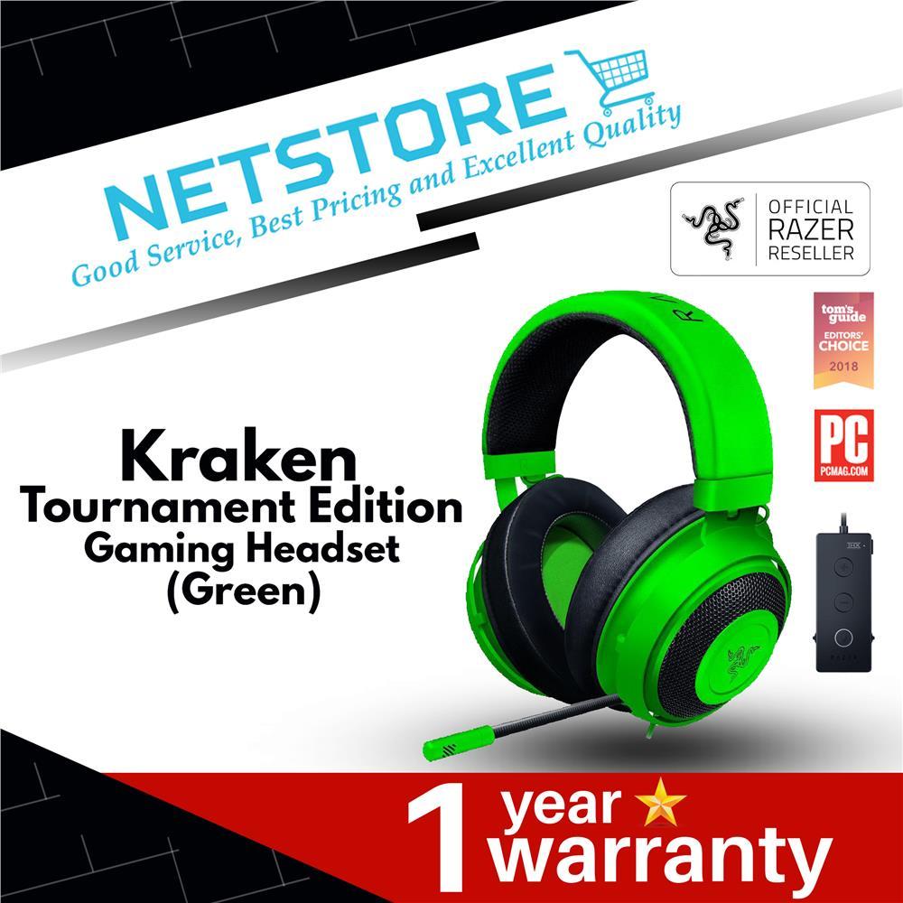 Razer Kraken Tournament Edition Gaming Headset THX Spatial Audio-Green