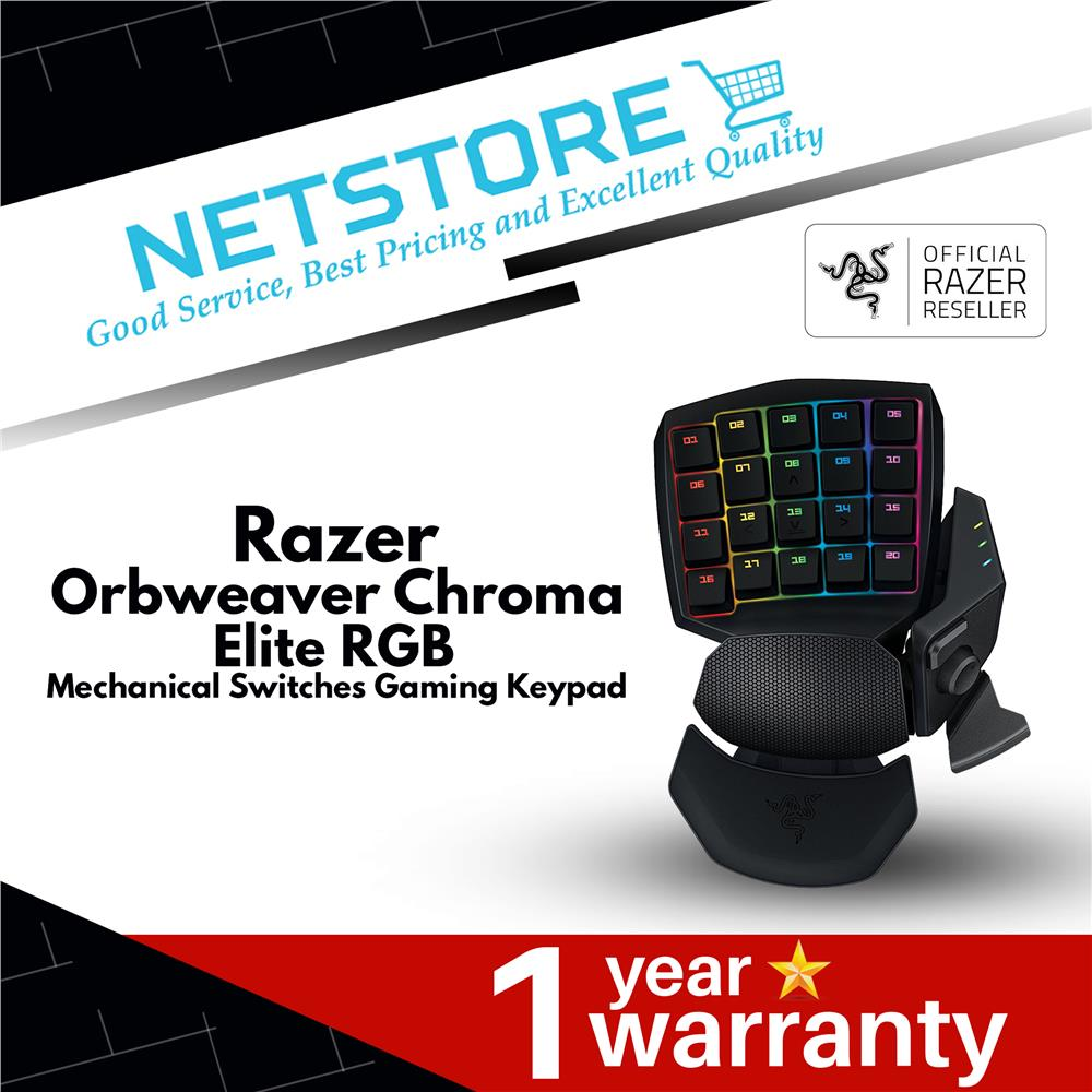 Razer Orbweaver Chroma - Elite RGB Mechanical Switches Gaming Keypad