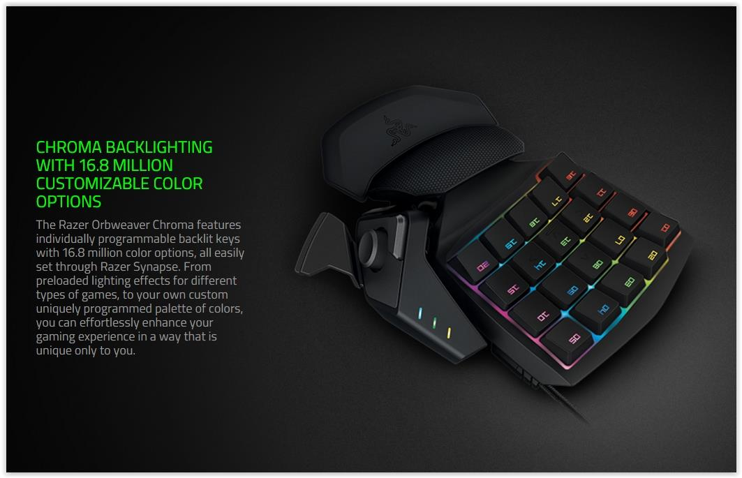 RAZER ORBWEAVER CHROMA RGB MECHANICAL KEYPAD