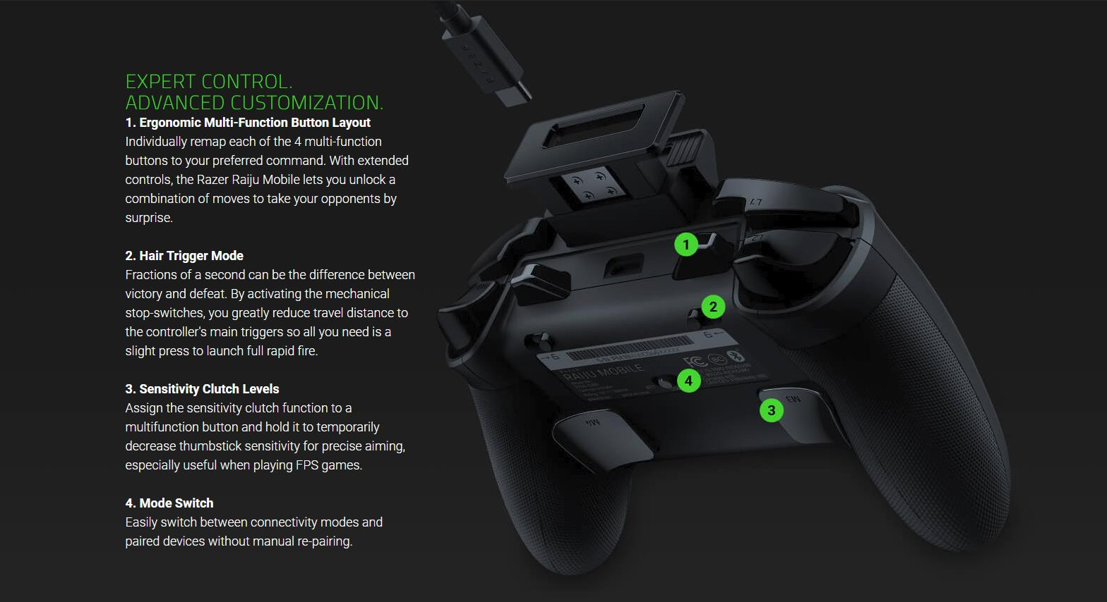 Razer Raiju Mobile Gaming Controlle End 8 12 2021 10 15 Am Mobile game developers in general still seem somewhat hesitant to include proper support for bluetooth controls. razer raiju mobile gaming controller for android rz06 02800100 r3m1