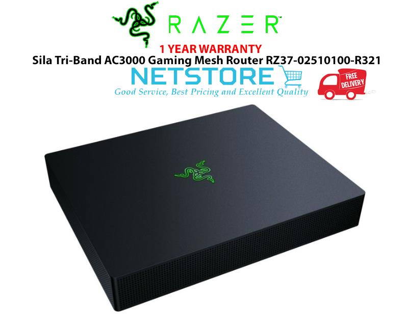 Razer Sila Tri-Band AC3000 Gaming Mesh Router with Multi-Channel