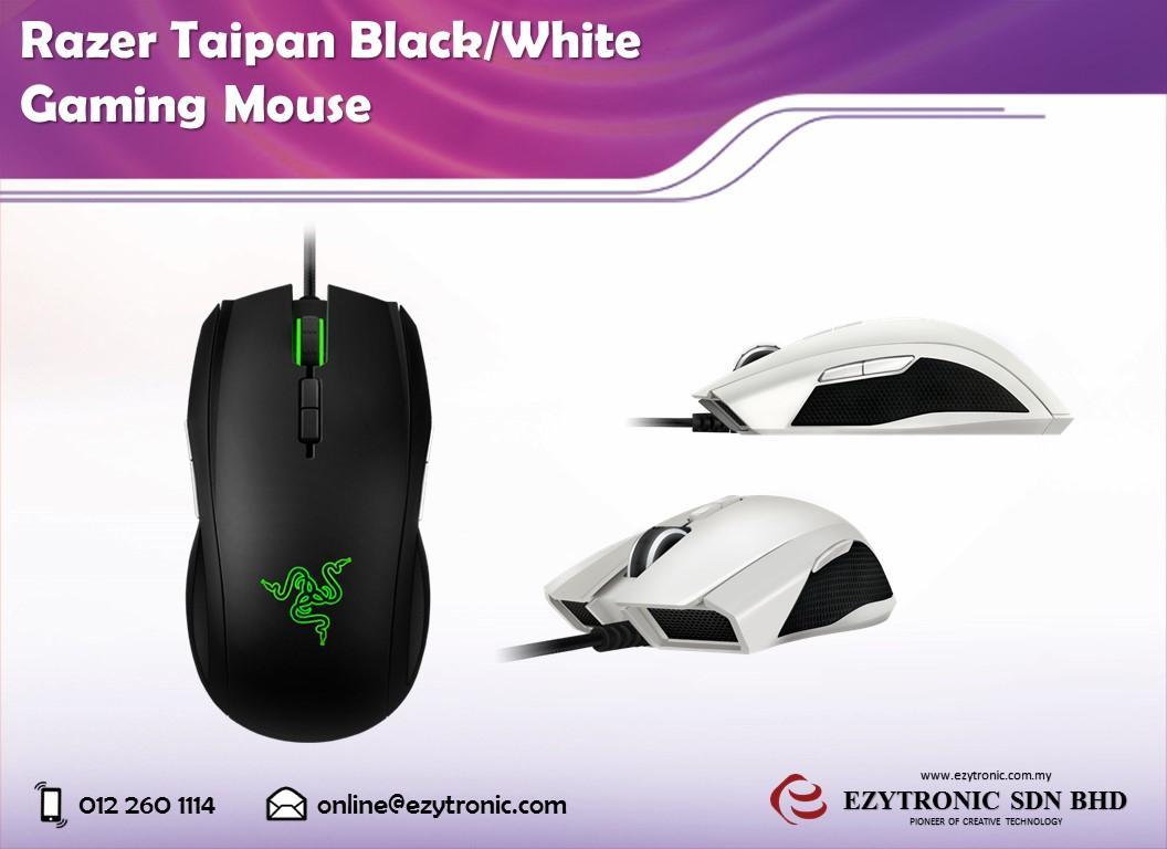 Razer Taipan Black White Gaming Mou End 11 18 2016 315 Pm Mouse Ambidextrous