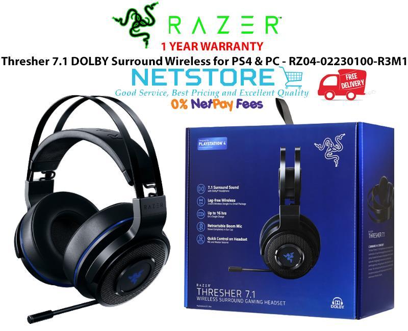 6ce59343256 Razer Thresher 7.1 DOLBY Wireless for PS4 & PC - RZ04-02230100-R3M1. ‹ ›