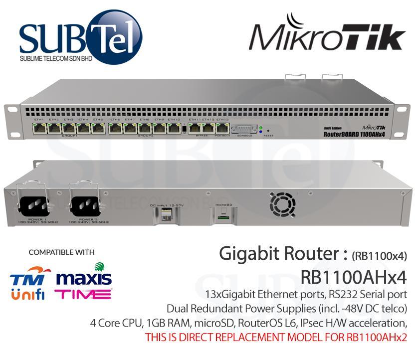 RB1100AHx4 Mikrotik Gigabit Router 13 port aka RB1100x4