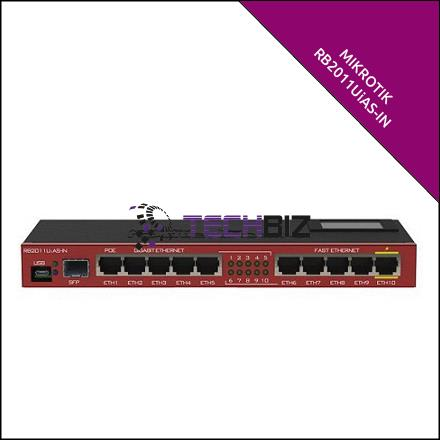 RB2011UiAS-IN Mikrotik 11-Port Gigabit Router