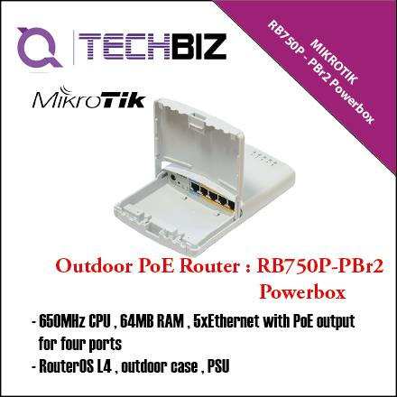 RB750P-PBr2 Mikrotik 5-Port PowerBox Outdoor POE MPLS Router