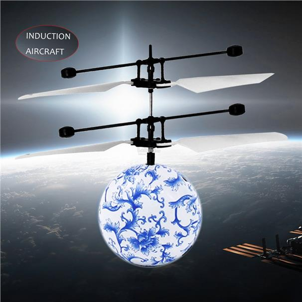 RC Infrared Induction Aircraft With Blue&White Porcelain Ball Kids Toy