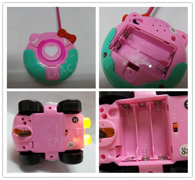 RC Remote Control Hello Kitty Car + Music + Lights Toys