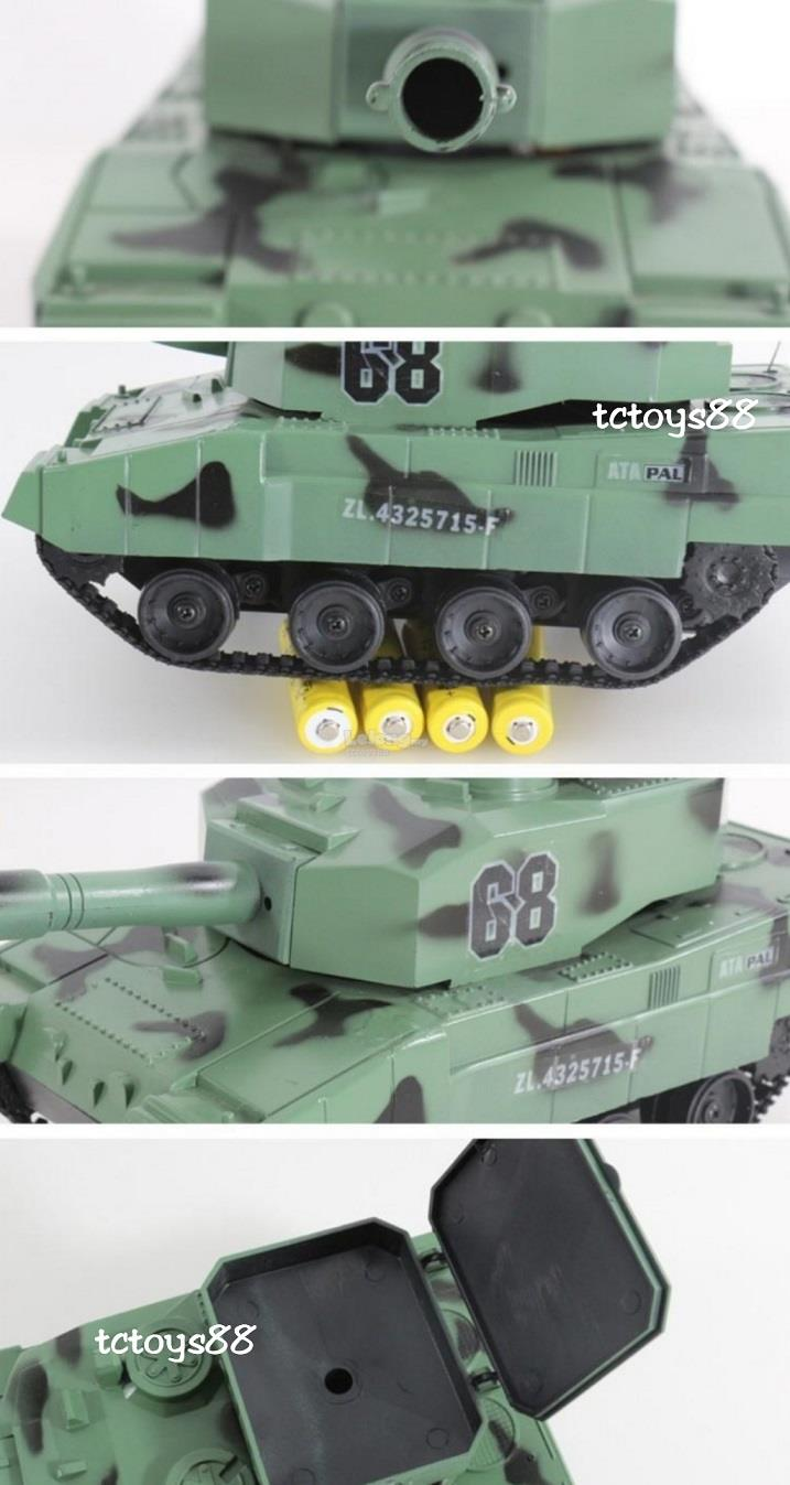 RC TANK REMOTE CONTROL BATTLE TANK SHOT BB BULLET TANK ARMY COMBAT TOY