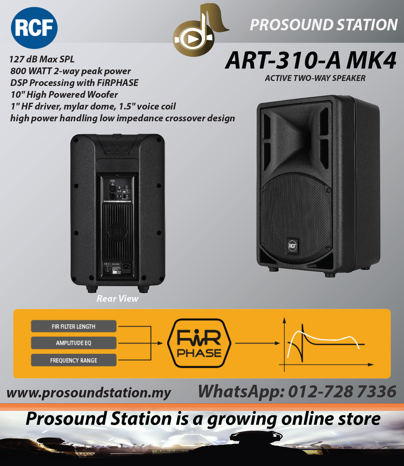 RCF ART 310-A MK4 ACTIVE TWO-WAY SPEAKER