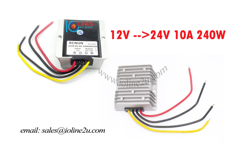 RCNUN 9V 12V 13.8V 16V DC to 24V 10A 240w DC-DC power converter Step Up Boost