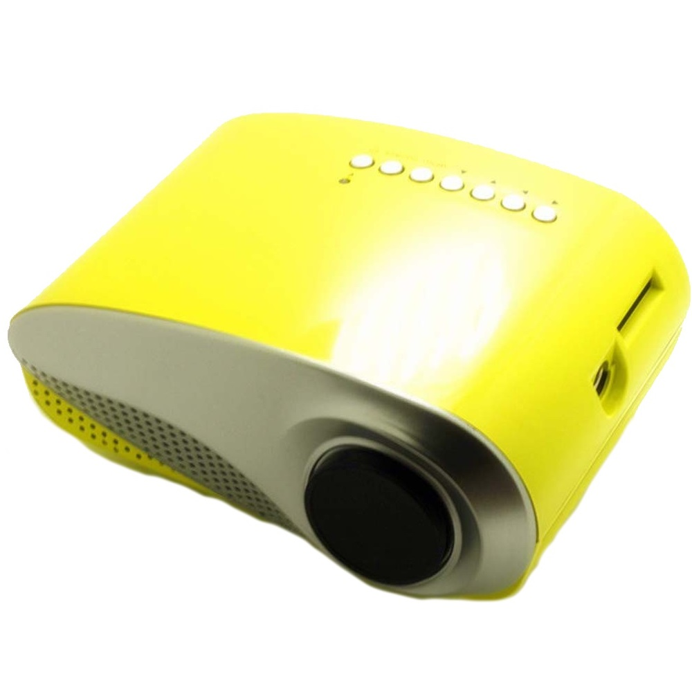 RD802 Yellow LED LCD Projector Home Theater HDMI 60 Lumens