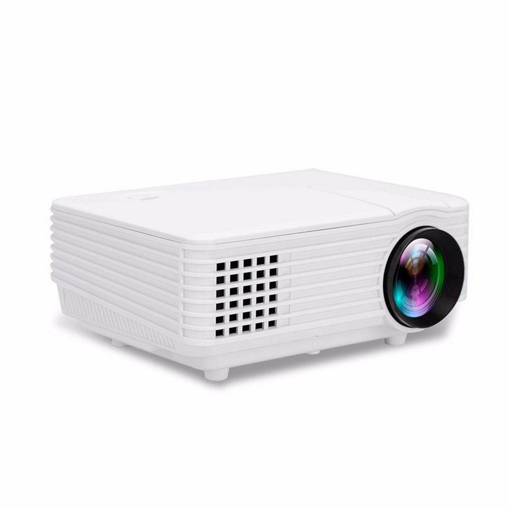 RD805 White Mini LED LCD Projector Home Theater HDMI 800 Lumens