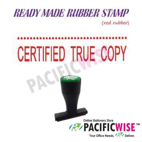 Ready Made Rubber Stamp Certified True Copy With Line