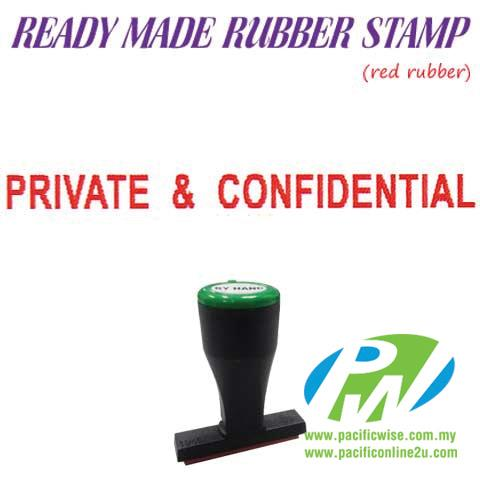 Ready-Made Rubber Stamp (Private & Confidential)