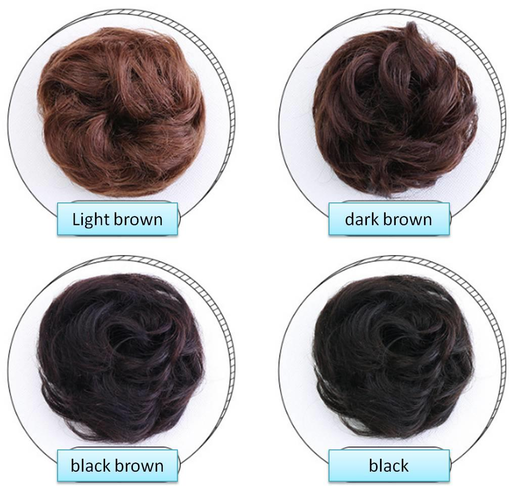READY STOCK 100% real human hair ring hair bun hair extension