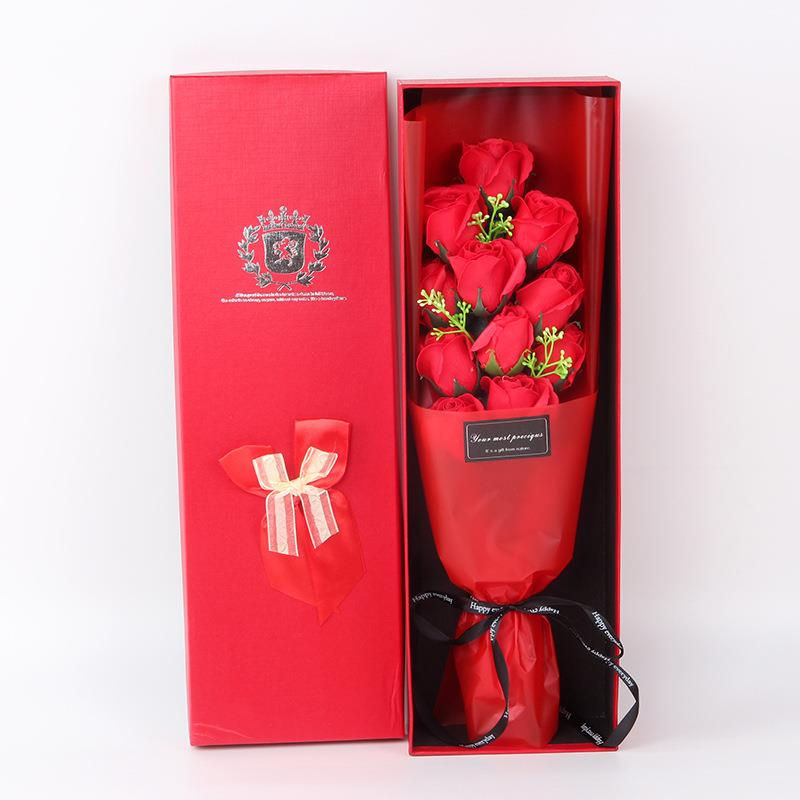 Ready Stock 11 Red Roses Flower Soap Bouquet Birthday Valentine Gift