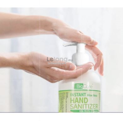 Ready Stock 500ml Biocare Instant Liquid Hand Sanitizer FREE 35ml