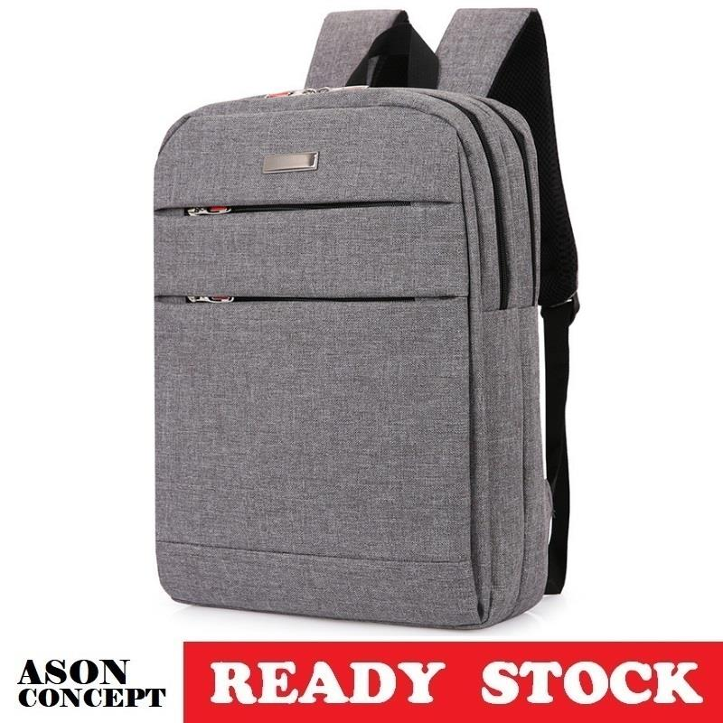 READY STOCK backpack laptop bag 099 (GREY)