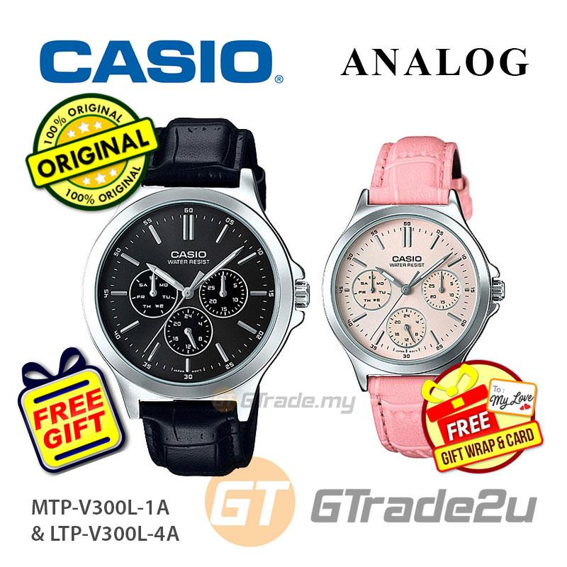 [READY STOCK] CASIO COUPLE MTP-V300L-1AV  & LTP-V300L-4AV Analog W..
