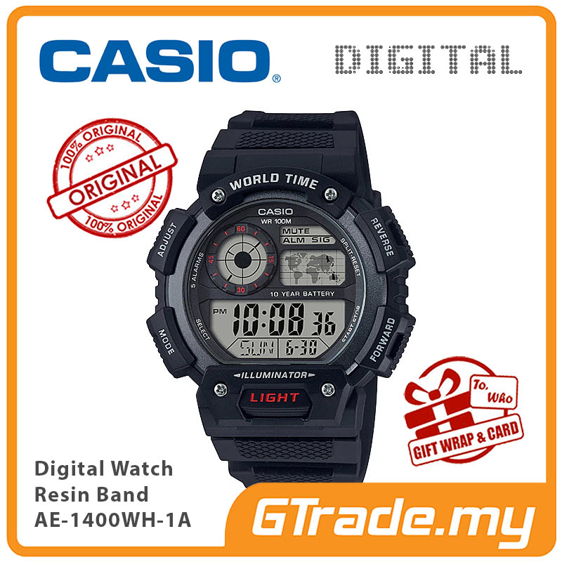 Casio World Map Watch.Ready Stock Casio Men Ae 1400wh 1 End 5 10 2021 12 00 Am