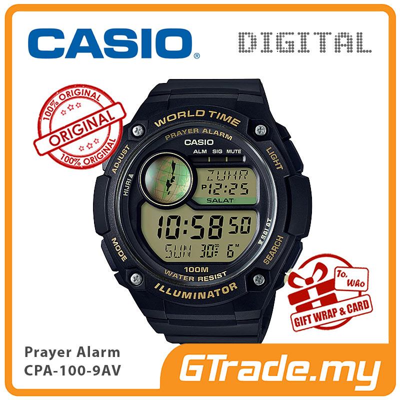 Ready Stock Casio Men Prayer Cpa 100 9av Digital Watch Hijri